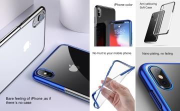 Ốp dẻo viền xi hiệu Baseus Shining Series iPhone XR
